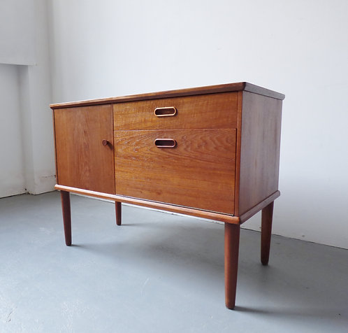 Small 1950s Danish teak sideboard