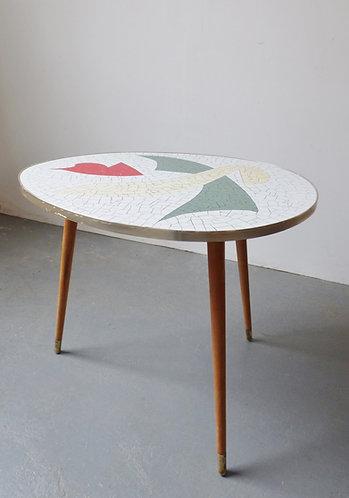 1950s mosaic sidetable