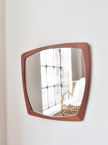 1960s Danish teak mirror trapezoid