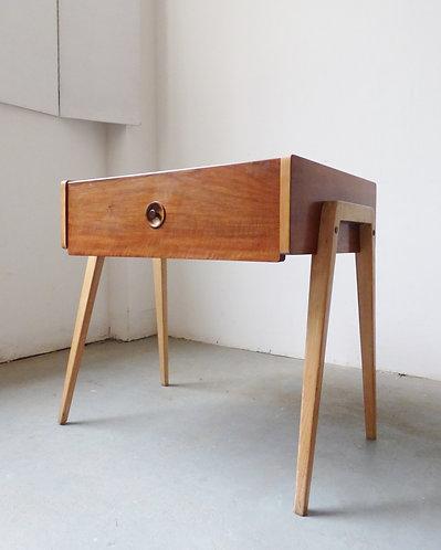1950s walnut side table