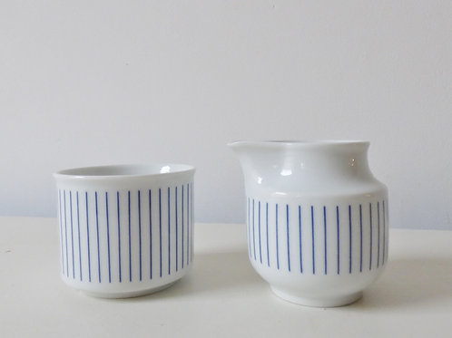 1980s West German sugar bowl and milk jug