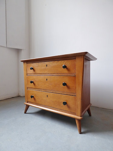 1940s Danish chest of 3 drawers