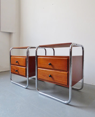Bauhaus style bedside tables