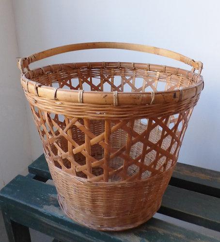 Vintage woven bin / basket