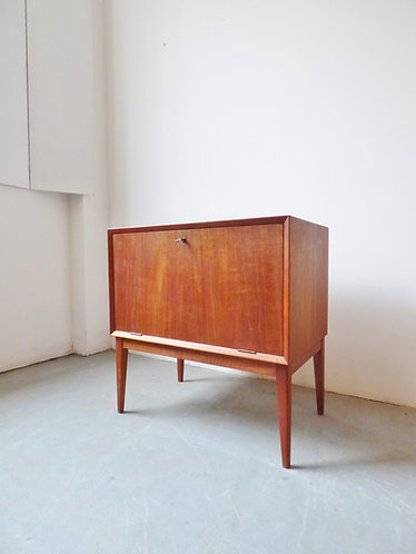 1960s Danish teak record / cocktail cabinet