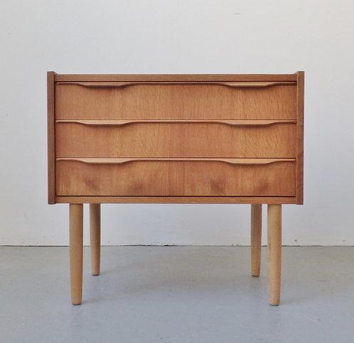 Mid-century oak bedside chest