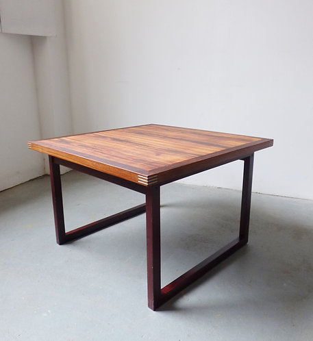 1970s square Danish rosewood coffee table