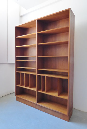 1960s Danish teak book case with adjustable shelves