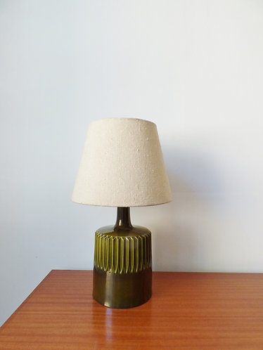 1960s Danish green ceramic table lamp