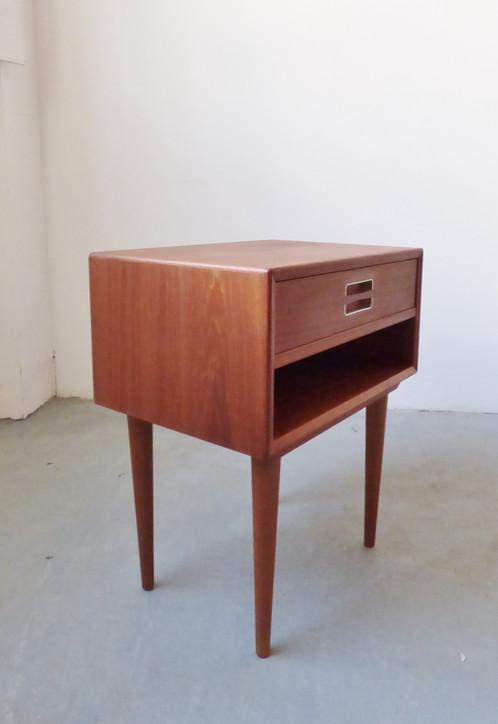 1960s Danish teak bedside table Archive
