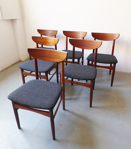 Mid-century Danish rosewood dining chairs by Skovby Møbelfabrik