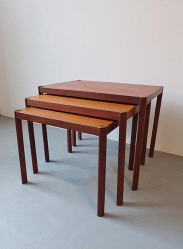 Mid-century Danish teak nest of tables