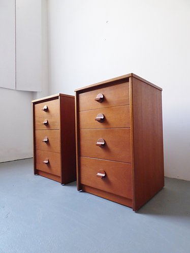 Pair of Stag bedside chests