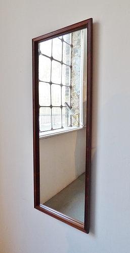 Mid-century Danish rosewood mirror