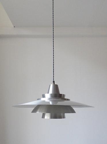 Large mid-century Danish aluminium pendant lamp