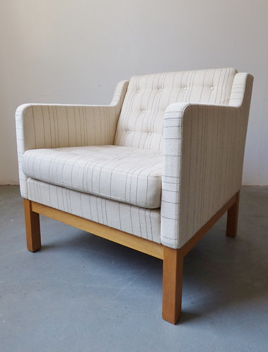 Danish light wool armchair by Erik Ole Jørgensen