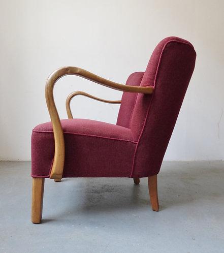 1940s Danish oak armchair