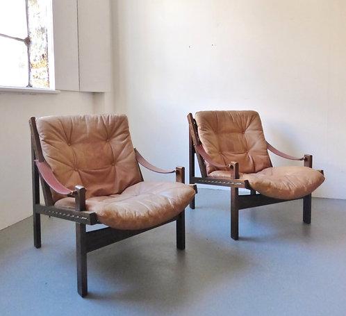 'Hunter' lounge chair by Torbjørn Afdal - 2 available