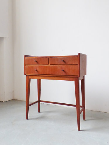 Small mid-century Danish hall table with drawers