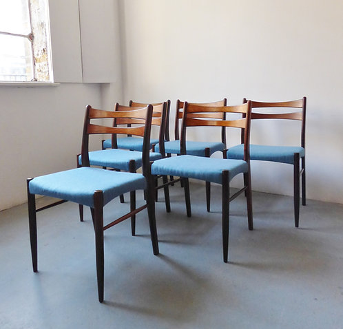 1960s Danish rosewood dining chairs set of 6