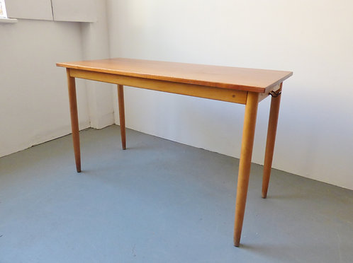 Vintage Danish teak and beech school desk
