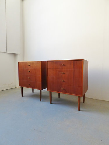 Pair of mid-century Danish chests