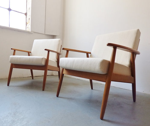 Pair of mid-century Danish lounge chairs