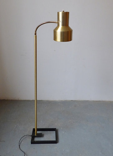 1970s Danish brass standard lamp