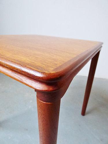 1960s Danish square teak lamp table