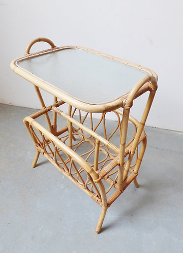 Vintage bamboo sidetables