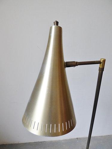 Mid-century brass standard lamp