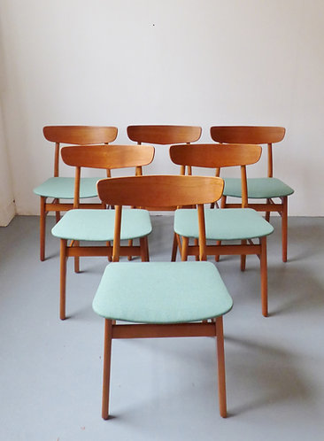 Mid-century Danish dining chairs