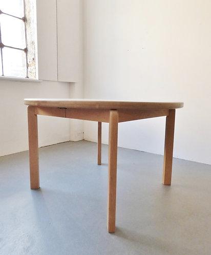 Danish round oak dining table