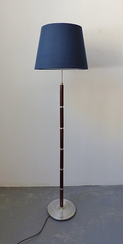 1960s Danish rosewood and chrome standard lamp