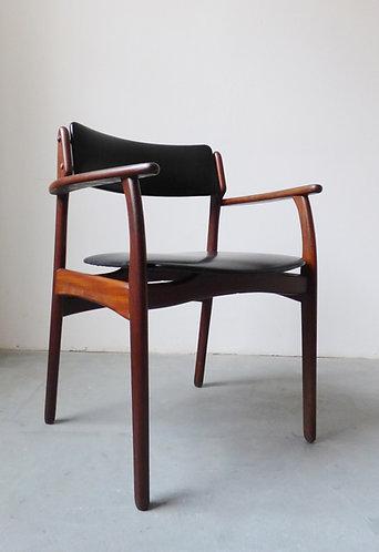 1950s teak desk chair by Erik Buch