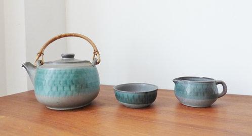 Vintage Danish tea pot with jug and sugar bowl