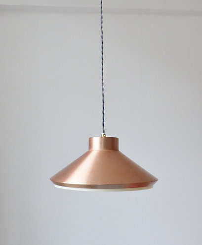 1960s Scandinavian copper pendant lamp