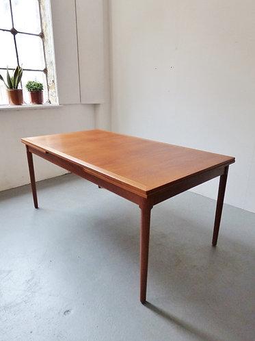 Large extending dining table by Kaj Winding