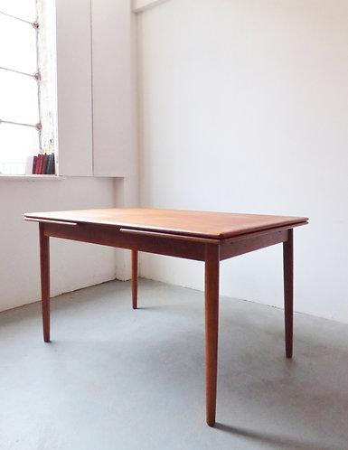 1960s Danish teak dining table - extending