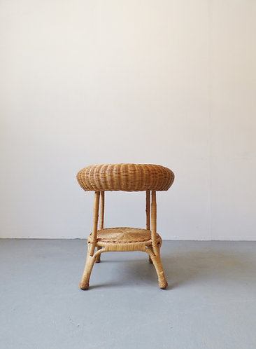 Vintage wicker side table