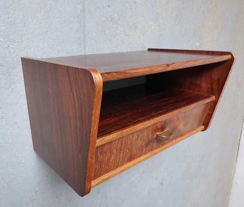 Mid-century rosewood bedside table