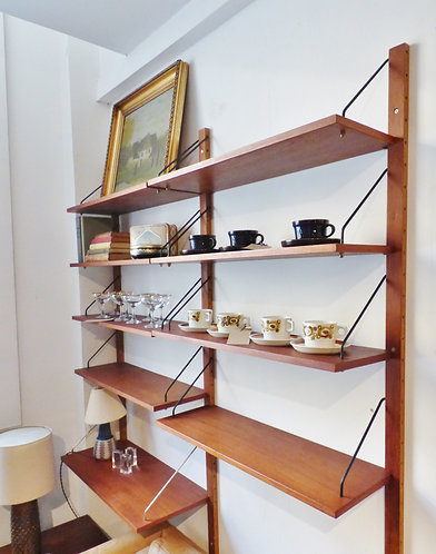 1960s Danish teak shelving system