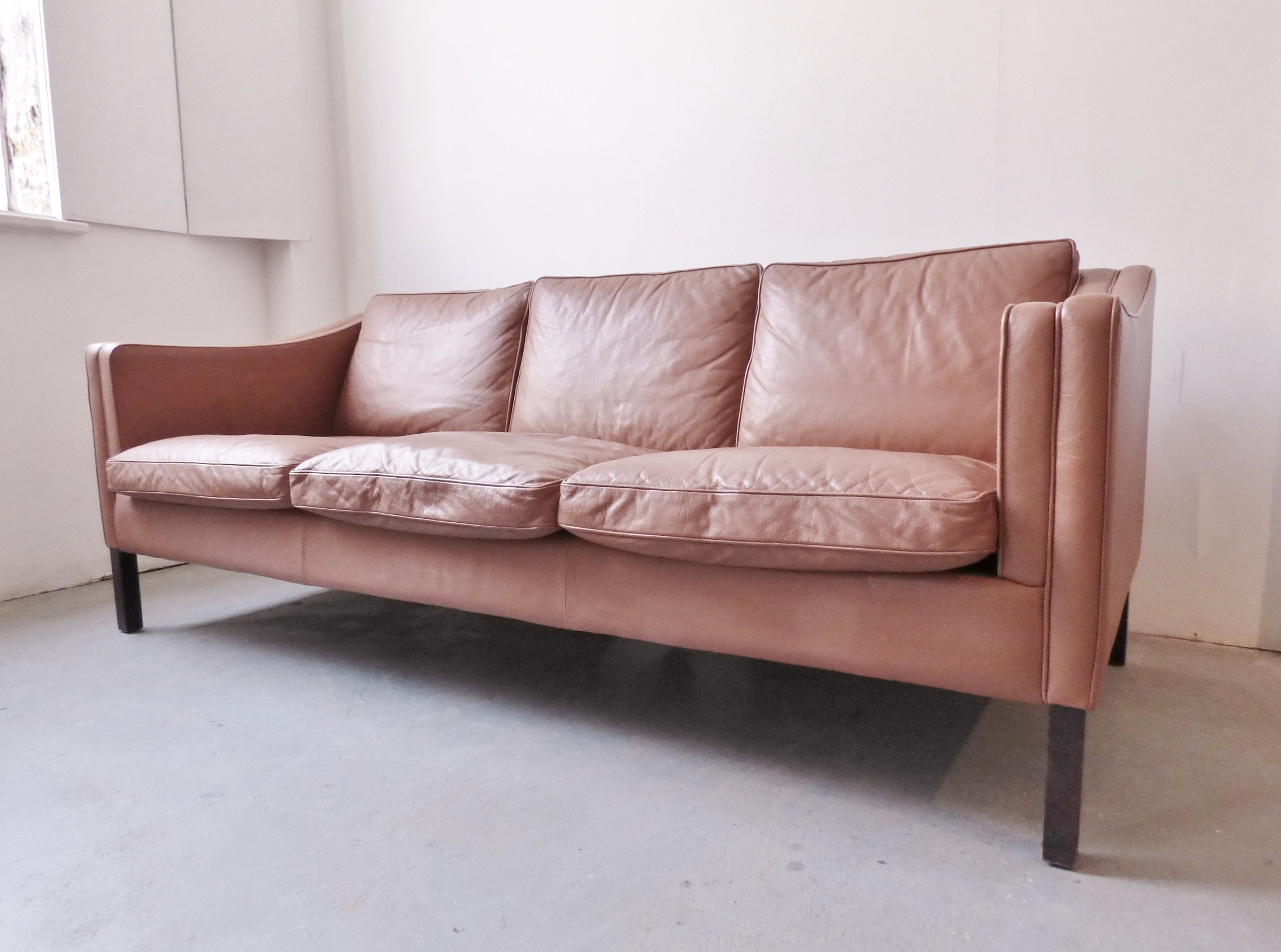 Light Tan Leather Couch Plain Light Blue Living Room Leather
