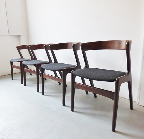 Mid-century Danish rosewood dining chairs set of 4