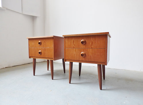 Pair of 1960s Danish bedside tables