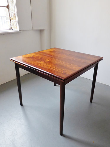 Square rosewood dining table