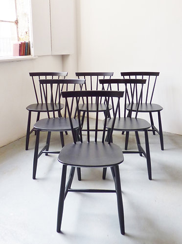 Set of 6 vintage Poul Volther J46 chairs for FDB