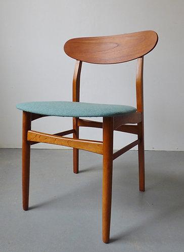 1950s Danish teak and oak dining chairs set of 4