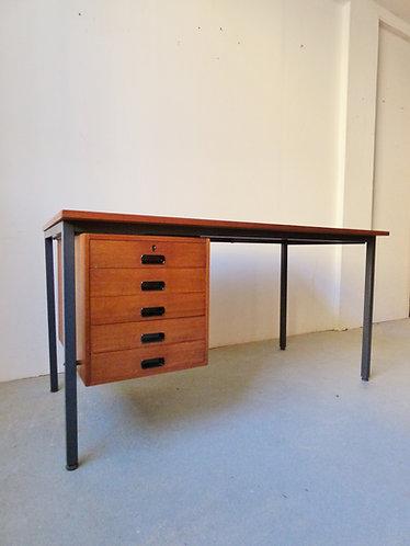 1960s Danish teak and metal desk by Nipu