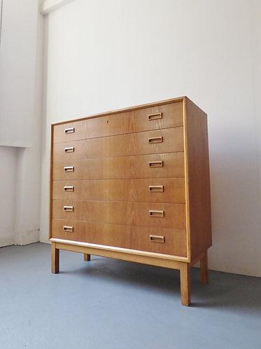 Large Danish oak chest by Bornholms Møbelfabrik, 1960s